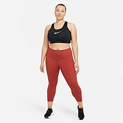 Women's Nike One Luxe Mid-Rise Cropped Training Tights (Plus Size)