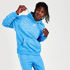 Men's Nike Sportswear Club Allover Print Pullover Hoodie