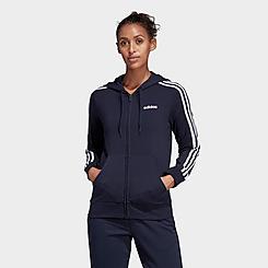 Women's adidas Essentials 3-Stripes Full-Zip Hoodie