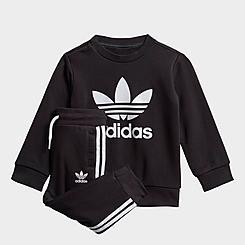 Infant and Kids' Toddler adidas Originals Crewneck Sweatshirt and Jogger Pants Set