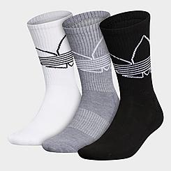 Men's adidas Originals Outline Trefoil 3-Pack Crew Socks