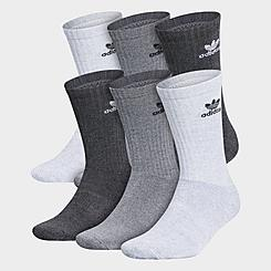 adidas Originals Trefoil 6-Pack Cushioned Crew Socks