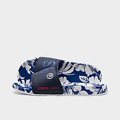 Men's Superdry Allover Print Beach Slide Sandals