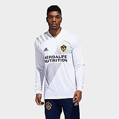 Men's adidas Los Angeles Galaxy Home Long-Sleeve Soccer Jersey