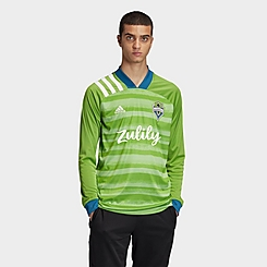 Men's adidas Seattle Sounders Home Long-Sleeve Soccer Jersey