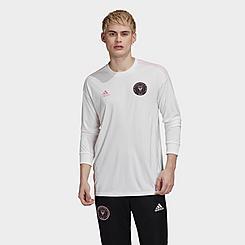 Men's adidas Inter Miami CF Home Long-Sleeve Soccer Jersey
