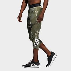 Men's adidas AlphaSkin Camo Three-Quarter Tights