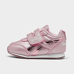 Girls' Toddler Reebok Royal Classic Jogger Hook-and-Loop Casual Shoes