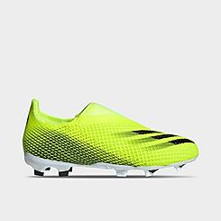 Little Kids' adidas X Ghosted.3 Laceless Firm Ground Soccer Cleats