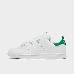 Little Kids' adidas Originals Stan Smith Primegreen Hook-and-Loop Casual Shoes