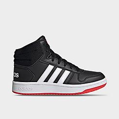 Boys' Big Kids' adidas Essentials Hoops 2.0 Mid Casual Shoes