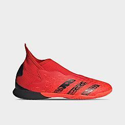 Big Kids' adidas Predator Freak.3 Laceless Indoor Soccer Shoes