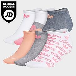 Women's adidas Originals 6-Pack No-Show Socks
