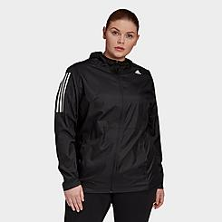 Women's adidas Own The Run Wind Jacket (Plus Size)