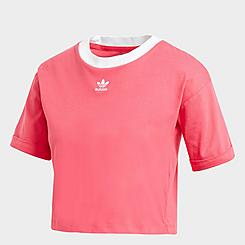 Women's adidas Originals Roll-Up Crop T-Shirt
