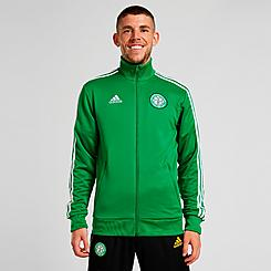 Men's adidas Celtic FC Soccer 3-Stripes Track Jacket