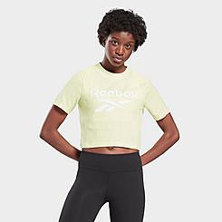 Women's Reebok Identity Logo Cropped T-Shirt