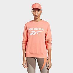 Women's Reebok Identity Logo French Terry Crewneck Sweatshirt