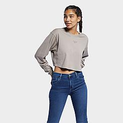 Women's Reebok Classics Foundation Vector Long-Sleeve Shirt