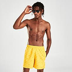 Men's adidas Originals Trefoil Allover Print Swim Shorts