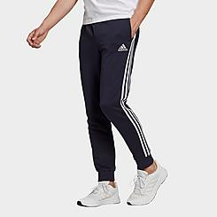 Men's adidas Essentials French Terry Tapered Cuff 3-Stripes Pants