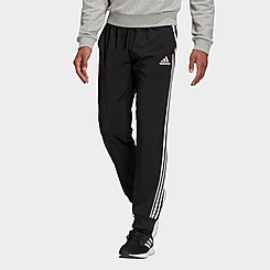Men's adidas AEROREADY Essentials Tapered Cuff Woven 3-Stripes Jogger Pants