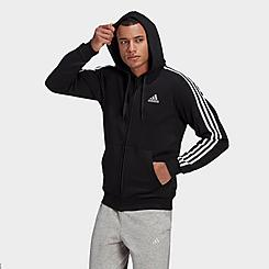 Men's adidas Essentials Fleece 3-Stripes Full Zip Hoodie