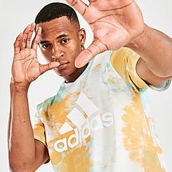 Men's adidas Summer Sport Tie-Dye Graphic T-Shirt