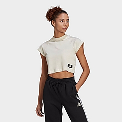 Women's adidas Sportswear Recycled Cotton Crop Top