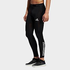Men's adidas Techfit 3-Stripes Long Training Tights