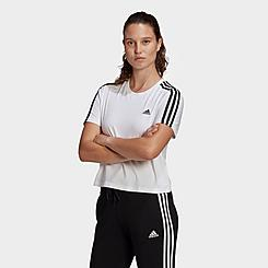 Women's adidas Essentials 3-Stripes Loose Cropped T-Shirt