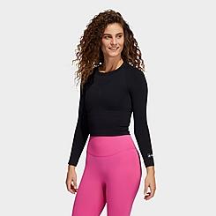 Women's adidas Training Formotion Cropped Long-Sleeve Training Shirt