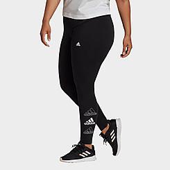 Women's adidas Essentials Stacked Logo High Waist Leggings (Plus Size)