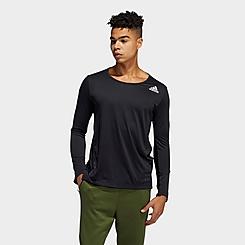 Men's adidas AEROREADY 3-Stripes Flow Primeblue Long-Sleeve T-Shirt