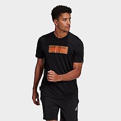 Men's adidas Camo Box Logo Graphic T-Shirt