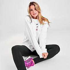 Women's adidas Originals Trefoil Repeat Crewneck Sweatshirt