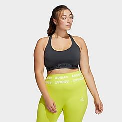 Women's adidas Training Aeroknit Light-Support Sports Bra (Plus Size)