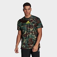 Men's adidas Designed 2 Move Camouflage Graphic AEROREADY T-Shirt