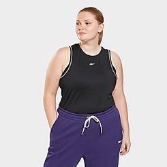 Women's Reebok Workout Ready Mesh Tank Top (Plus Size)