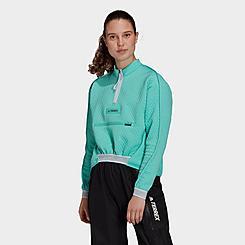 Women's adidas Terrex Hike Half-Zip Fleece Top