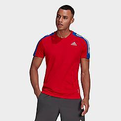 Men's adidas Own The Run 3-Stripes Iteration T-Shirt