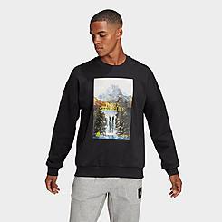 Men's adidas Sportswear Mountain Graphic Crewneck Sweatshirt