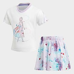 Girls' Toddler and Little Kids' adidas Training Frozen Summer T-Shirt and Shorts Set