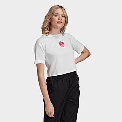 Women's adidas Originals Adicolor 3D Trefoil Crop T-Shirt