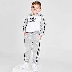 Boys' Toddler and Little Kids' adidas 3-Stripes Hoodie and Jogger Pants Set