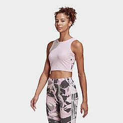 Women's adidas Essentials Camouflage 3-Stripes Cropped Tank
