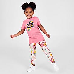 Girls' Infant and Toddler adidas Originals HER Studio London T-Shirt Dress and Leggings Set