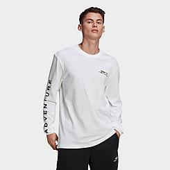 Men's adidas Originals Adventure Graphic Long-Sleeve T-Shirt