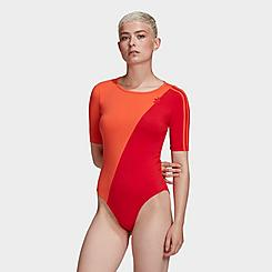 Women's adidas Originals Adicolor Sliced Trefoil Bodysuit