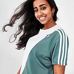 Women's adidas Originals Adicolor Sliced Trefoil Loose T-Shirt